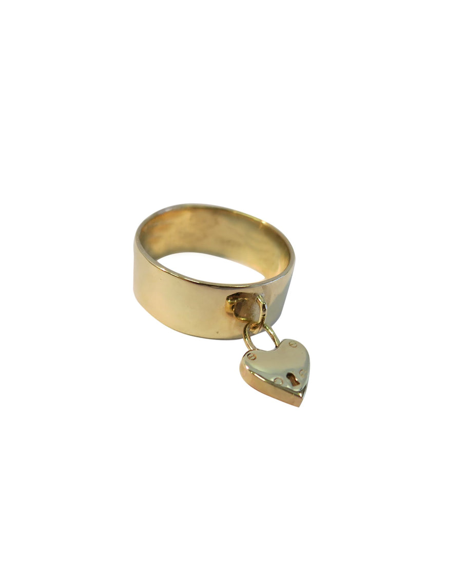 Lock My Heart Ring 9ct Gold