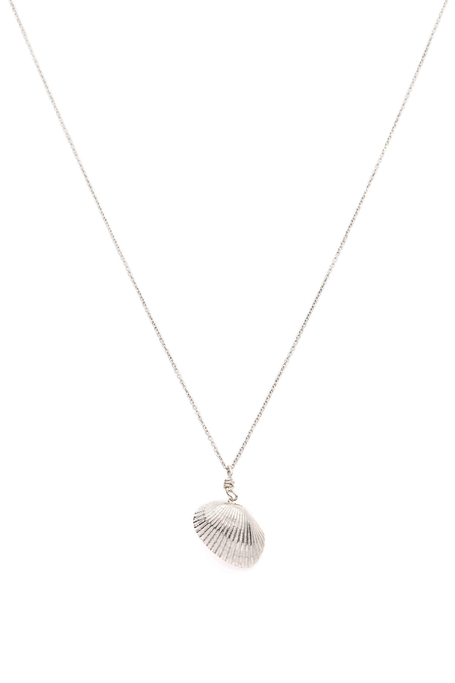 Shell & Freshwater Pearl Necklace Silver