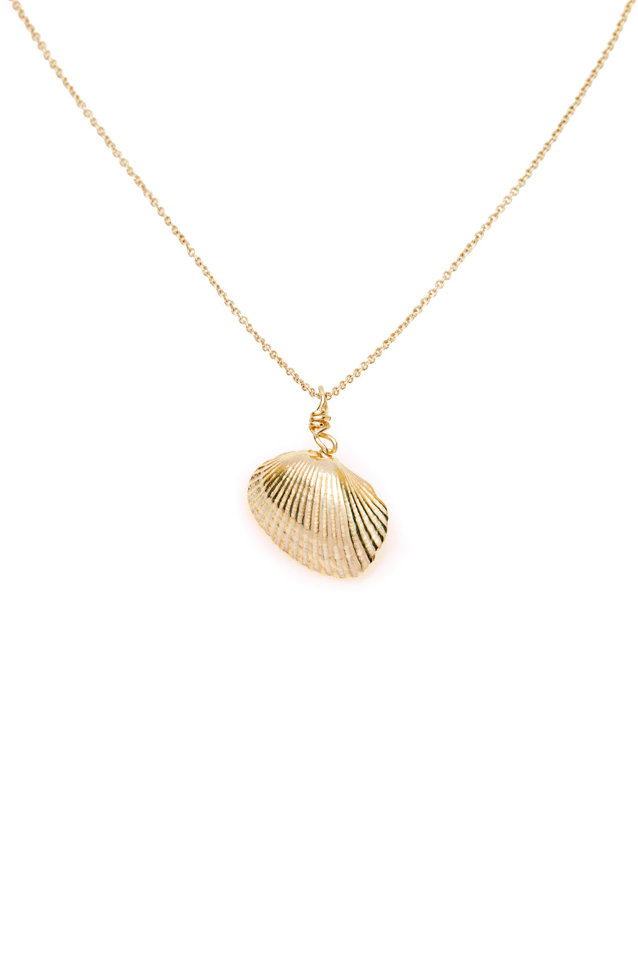 Shell & Freshwater Pearl Necklace Gold
