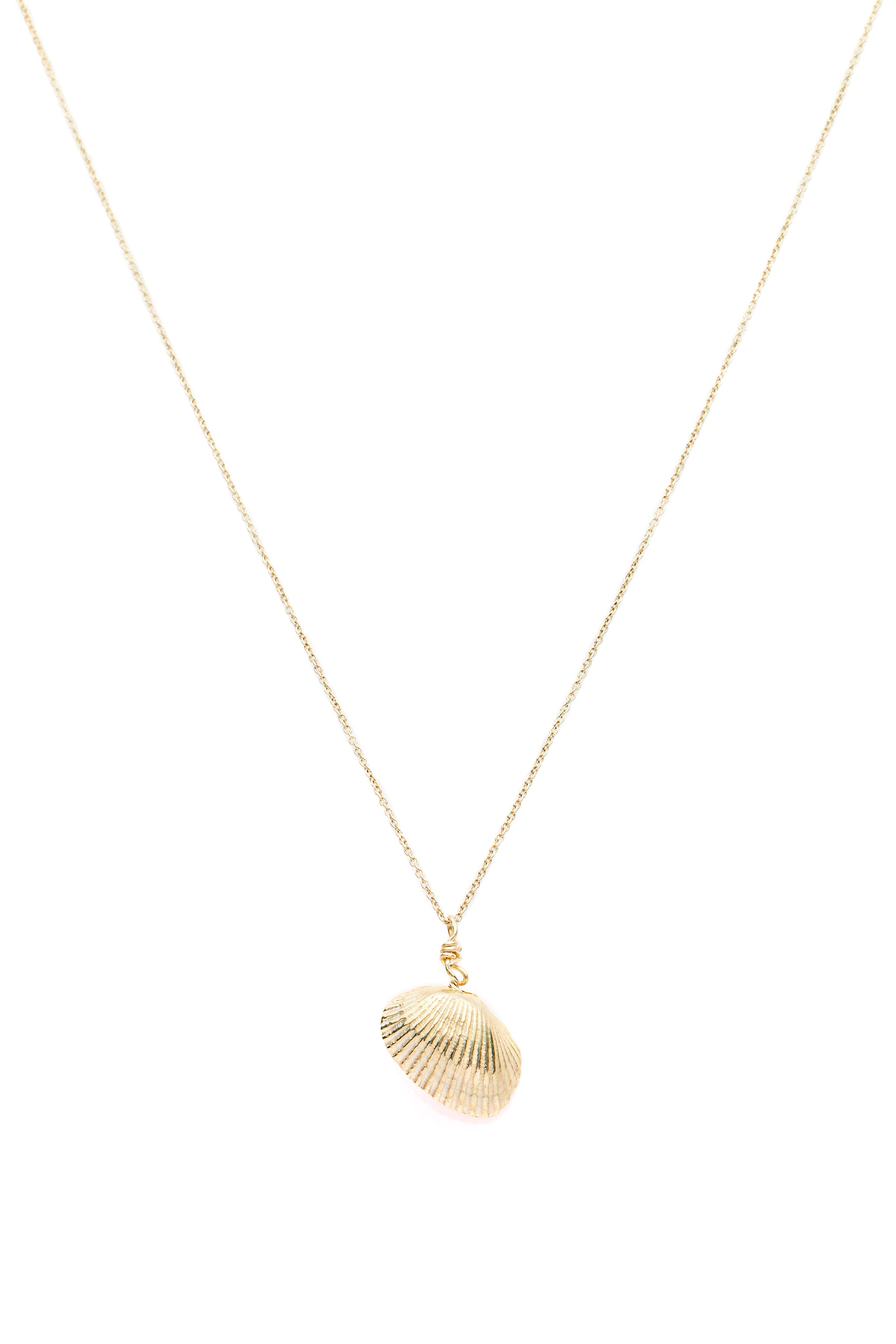 Shell & Freshwater Pearl Necklace Gold - Serpent & the Swan
