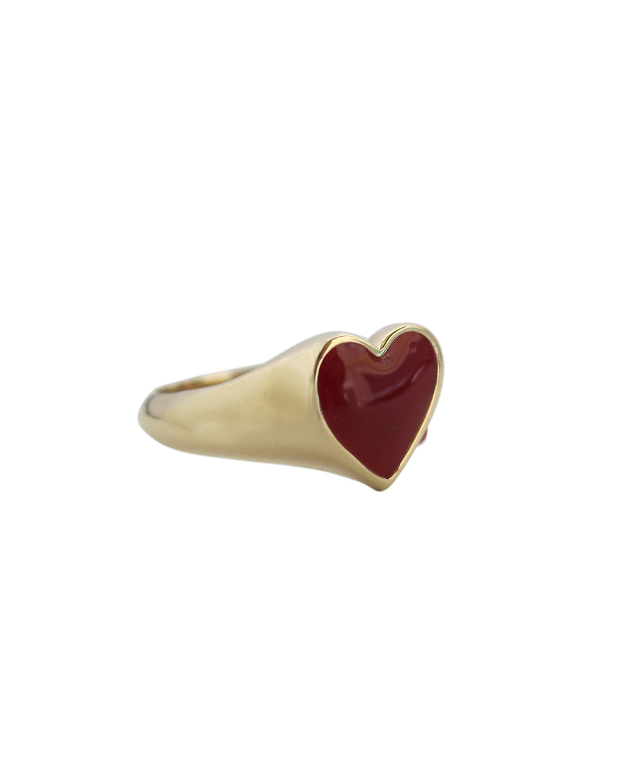 Bleeding Heart Ring Solid Gold - Serpent & the Swan