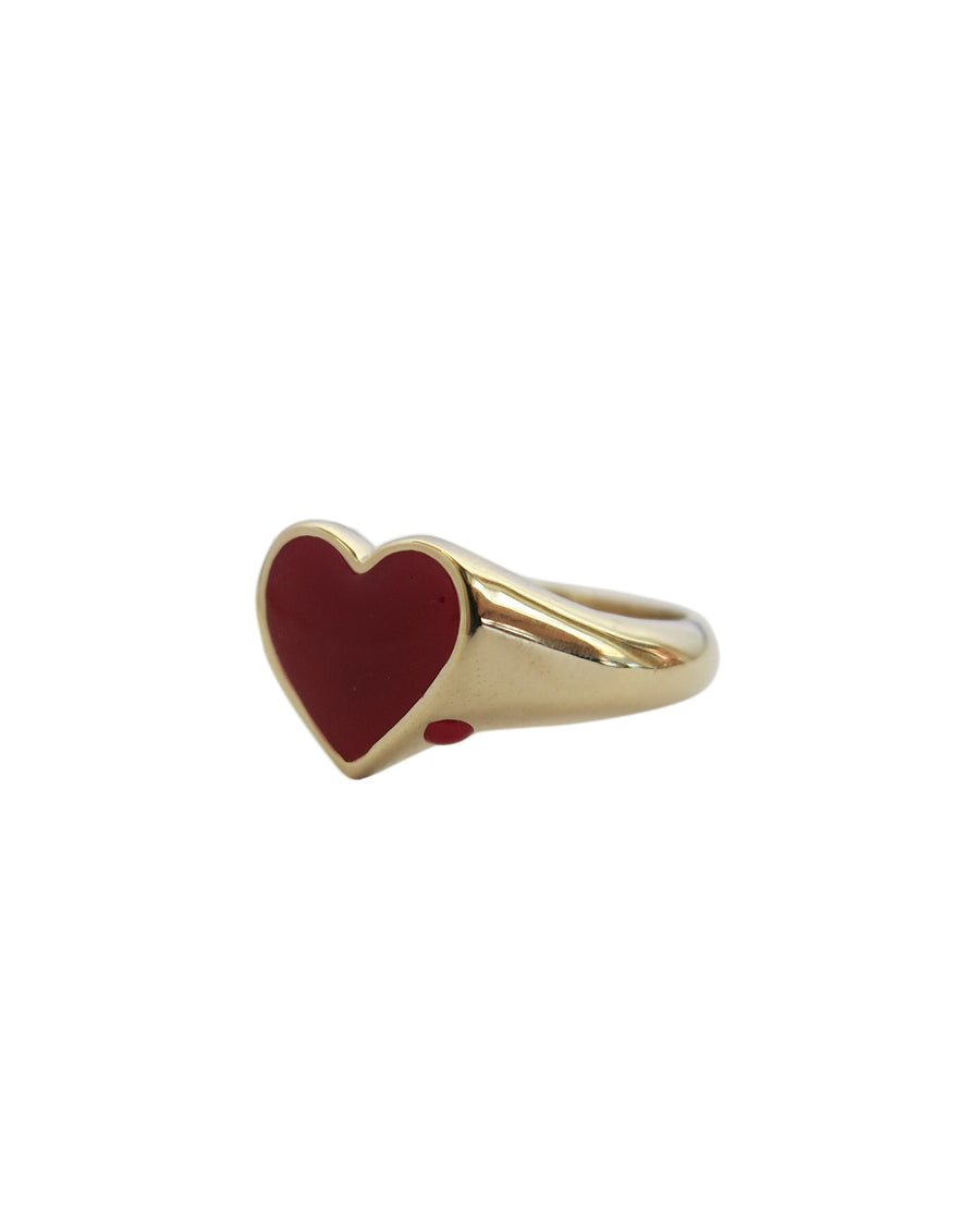 Bleeding Heart Ring Solid Gold