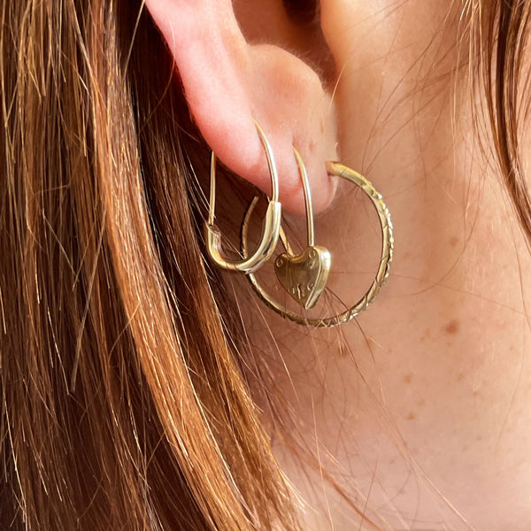 Safety Pin Earring Gold
