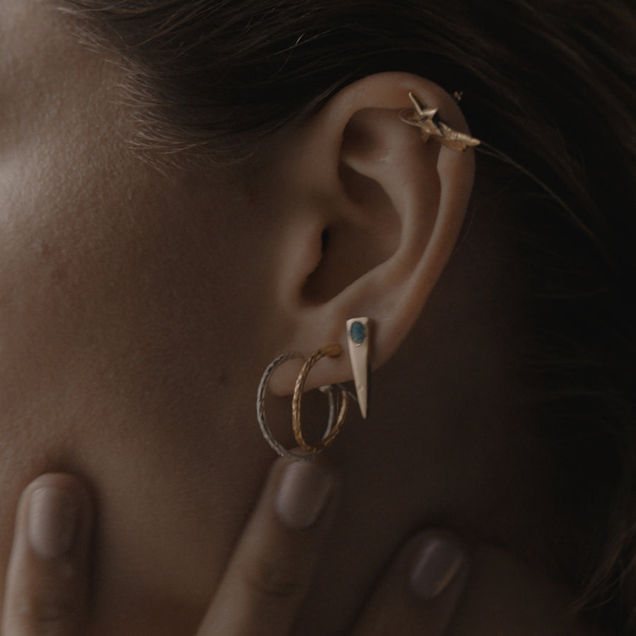 The Serpent Hoop Earring Gold - Serpent & the Swan