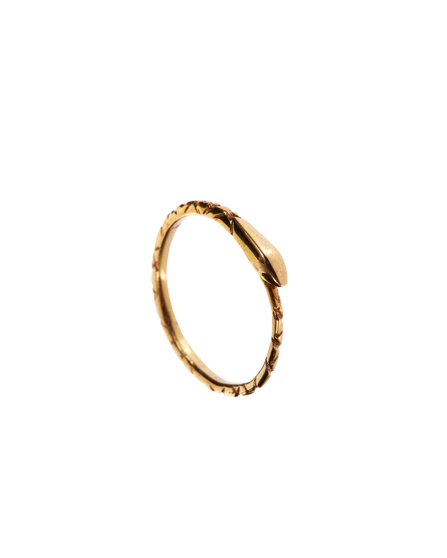 The Ouroboros Snake Ring Gold - Serpent & the Swan