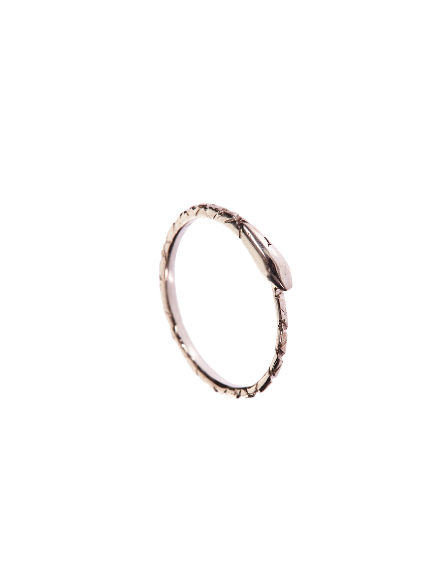 The Ouroboros Snake Ring Silver