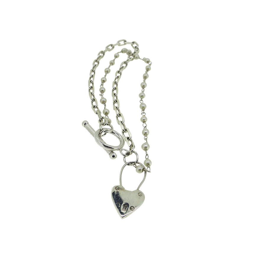 Heart Locket Charm Bracelet - Serpent & the Swan