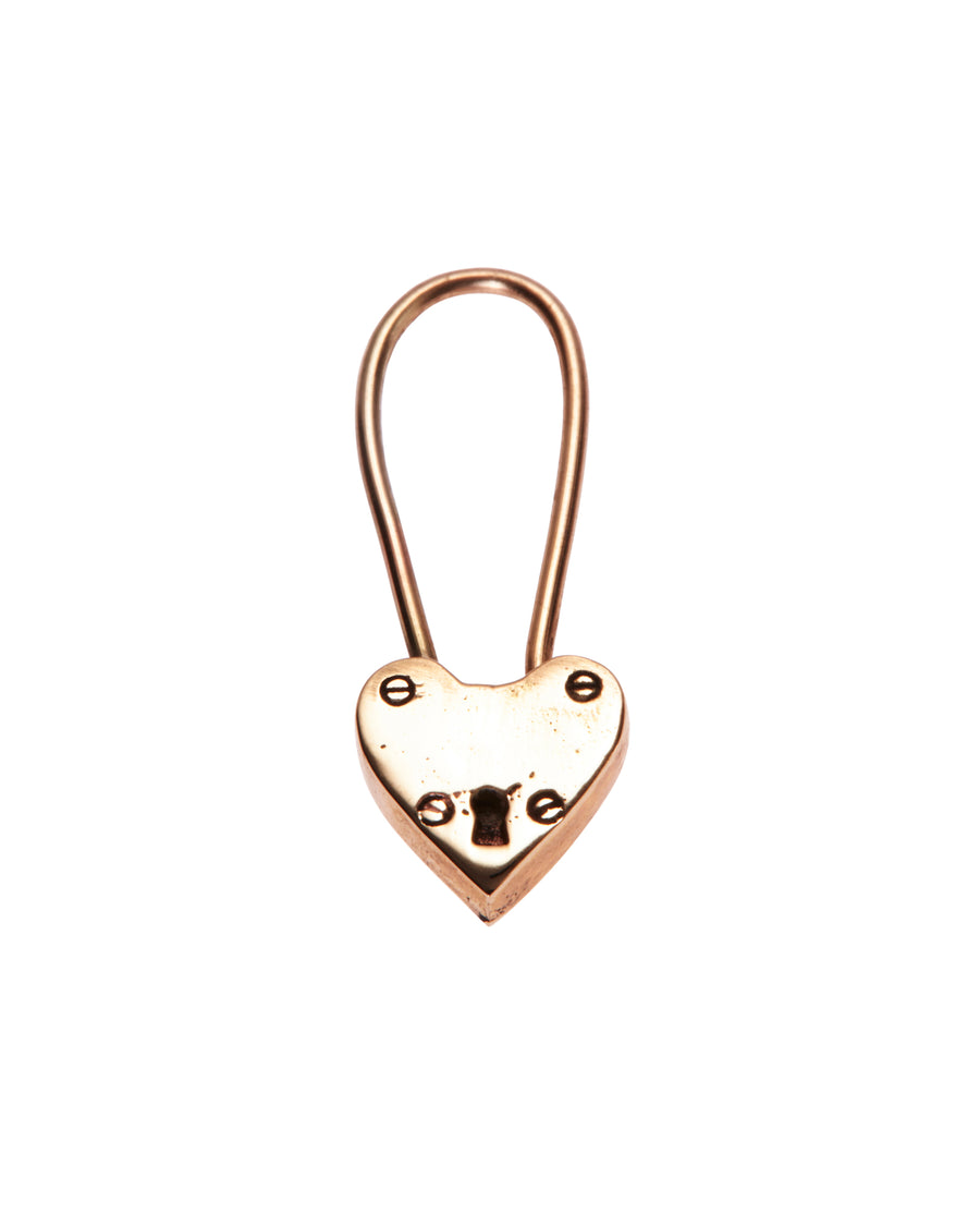 Little Heart Locket Earring Solid Gold
