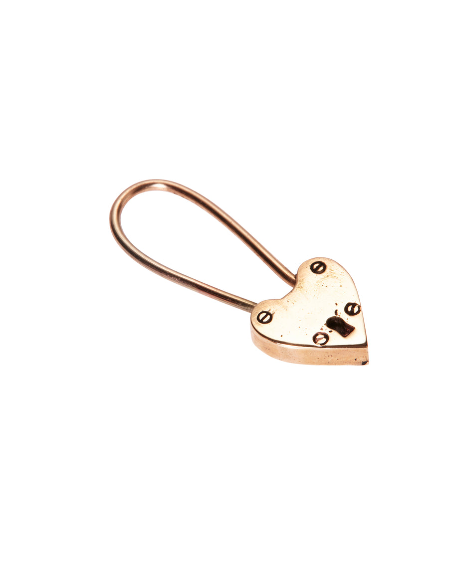 Little Heart Locket Earring Solid Gold - Serpent & the Swan