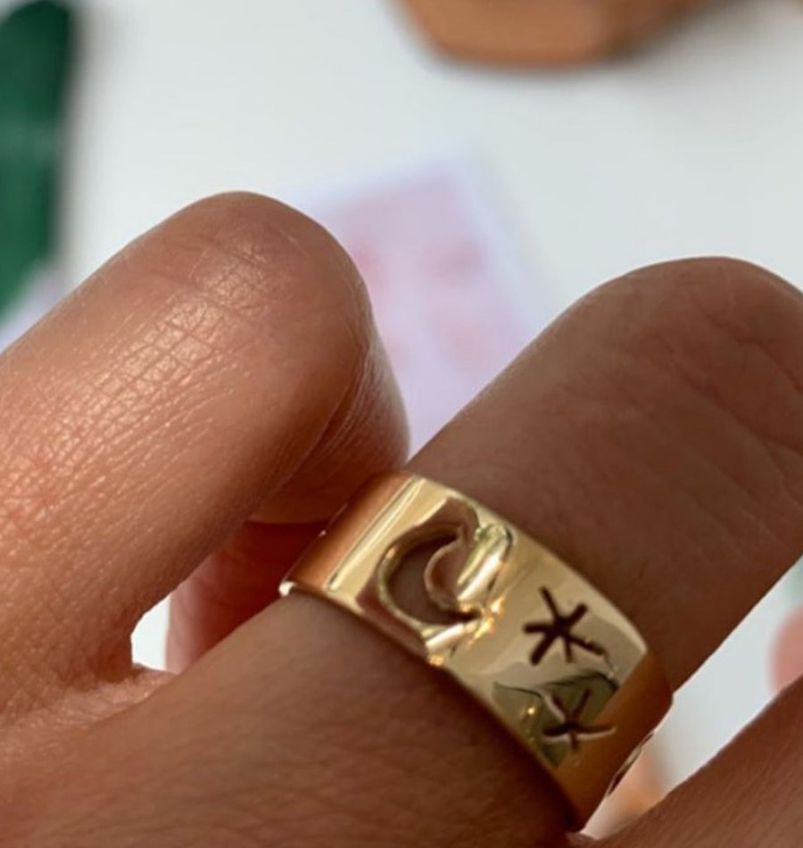 Starry Nights Ring Gold