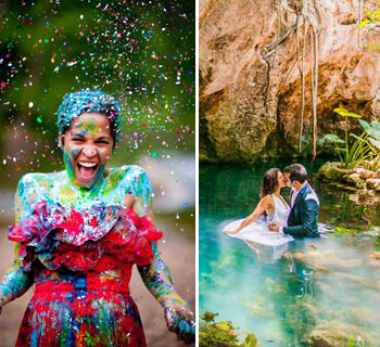 10 of the Most Dramatic Trash the Dress Shoots
