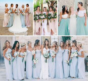 Beautiful Beach Bridesmaid Dresses for Your Destination Wedding