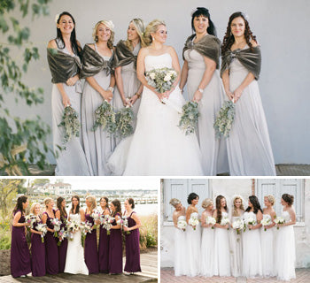 Fabulous Bridesmaid Dresses for a Winter Wedding