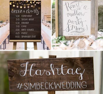 Cute Wedding Sign Ideas for Your Special Day