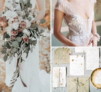 Light and Earthy: Sage and Beige Autumn Wedding Ideas