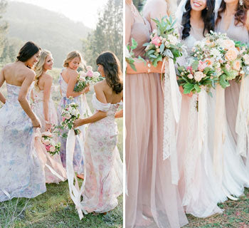How To Flatter Every Bridesmaid with Mismatched Dresses