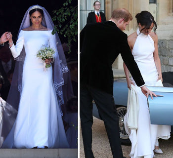 Comparing Meghan Markle's Two Wedding Dresses