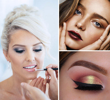 Metallic Wedding Makeup Ideas for Subtle Shimmering Look