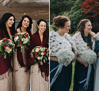 Keeping Warm with Winter Wraps for Your Bridesmaids