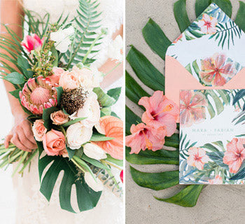 Tropical Wedding Ideas: Peach Dreams and Palm Trees