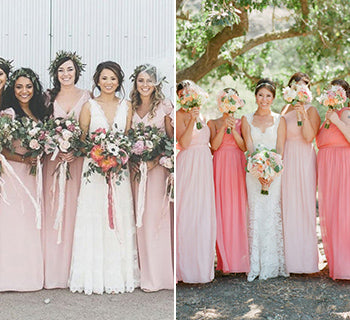Pink Bridesmaids Dresses for Pretty Bridal Style