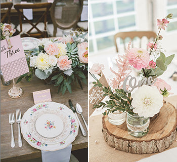 Pink Florals and Vintage China for Spring Weddings