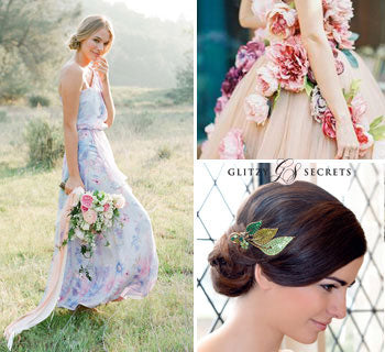 Beautiful Floral Wedding Dresses