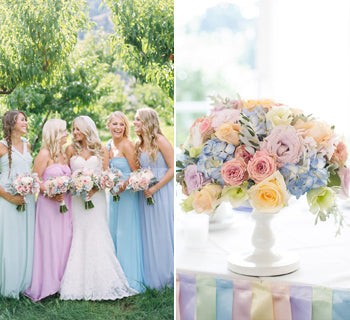 Romantic Rainbow Pastel Wedding Ideas