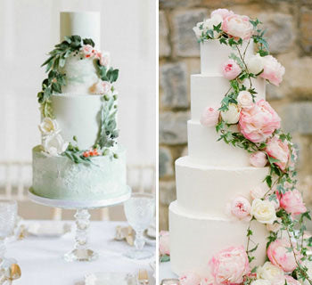 15 Beautiful Flower Wedding Cakes with Real Flowers
