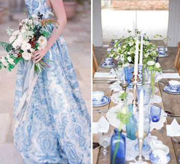 Vintage China – Shades of Blue for Your Autumn Wedding