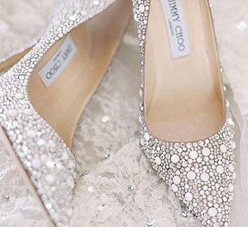 Stepping Out in Sparkly Wedding Shoes