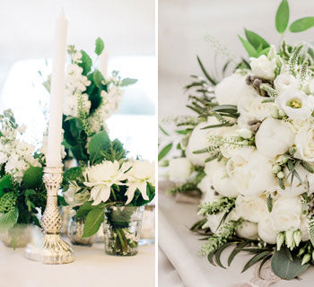 All White Flowers For A Spring Wedding