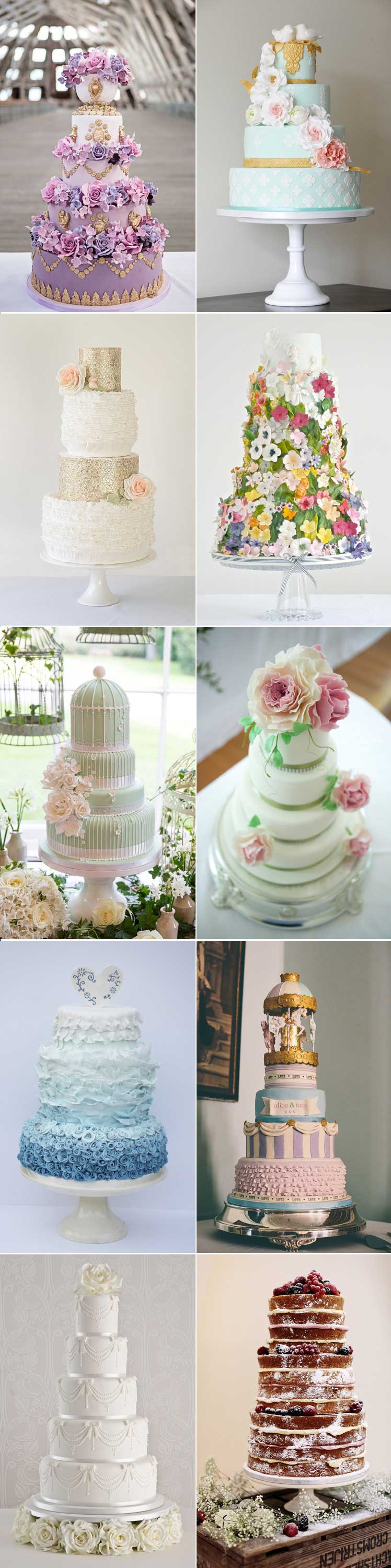10 amazing wedding cakes