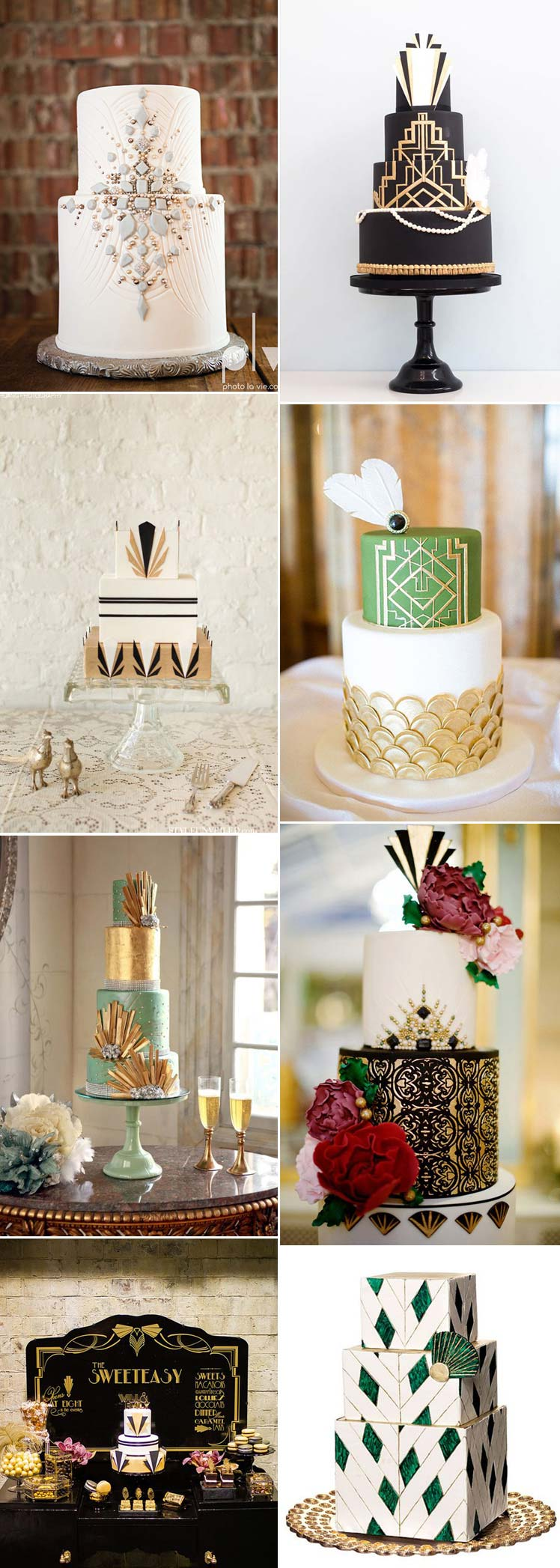 Beautiful Gatsby wedding cakes