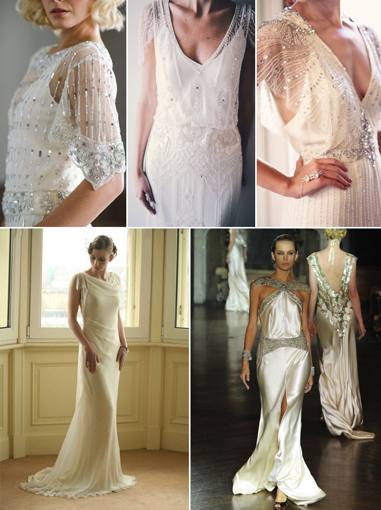 1920s and 1930s style bridal gowns