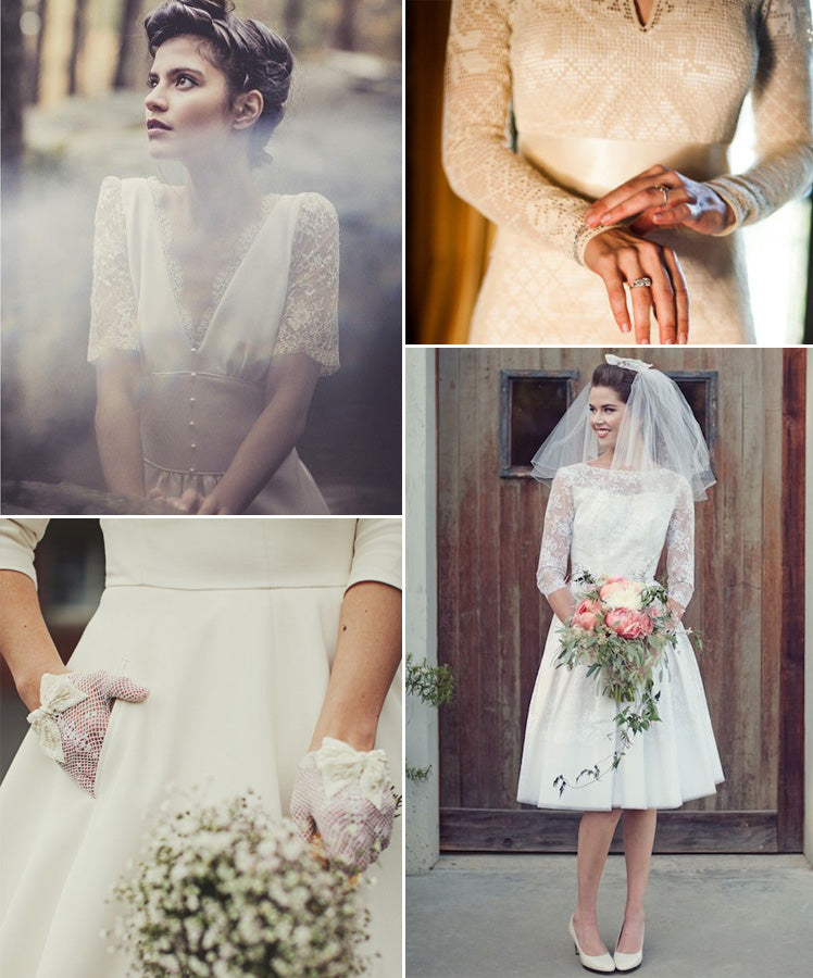 The elgance of 1940s and 1950s bridal style