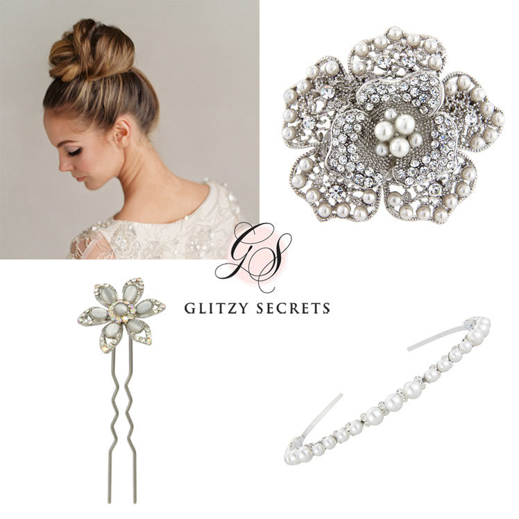 accessories for dressing a top knot updo