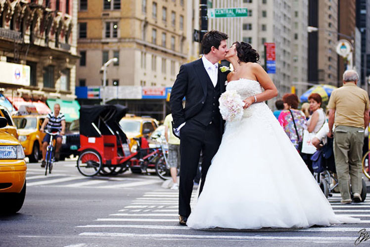 Irish couple Gemma and Gary chose to marry in New York City