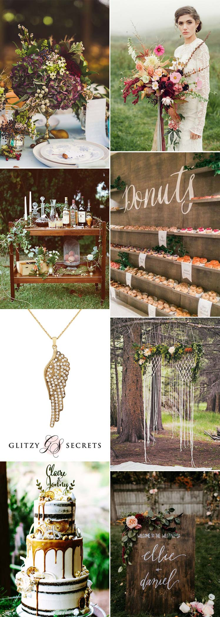 Beautiful autumn boho wedding ideas
