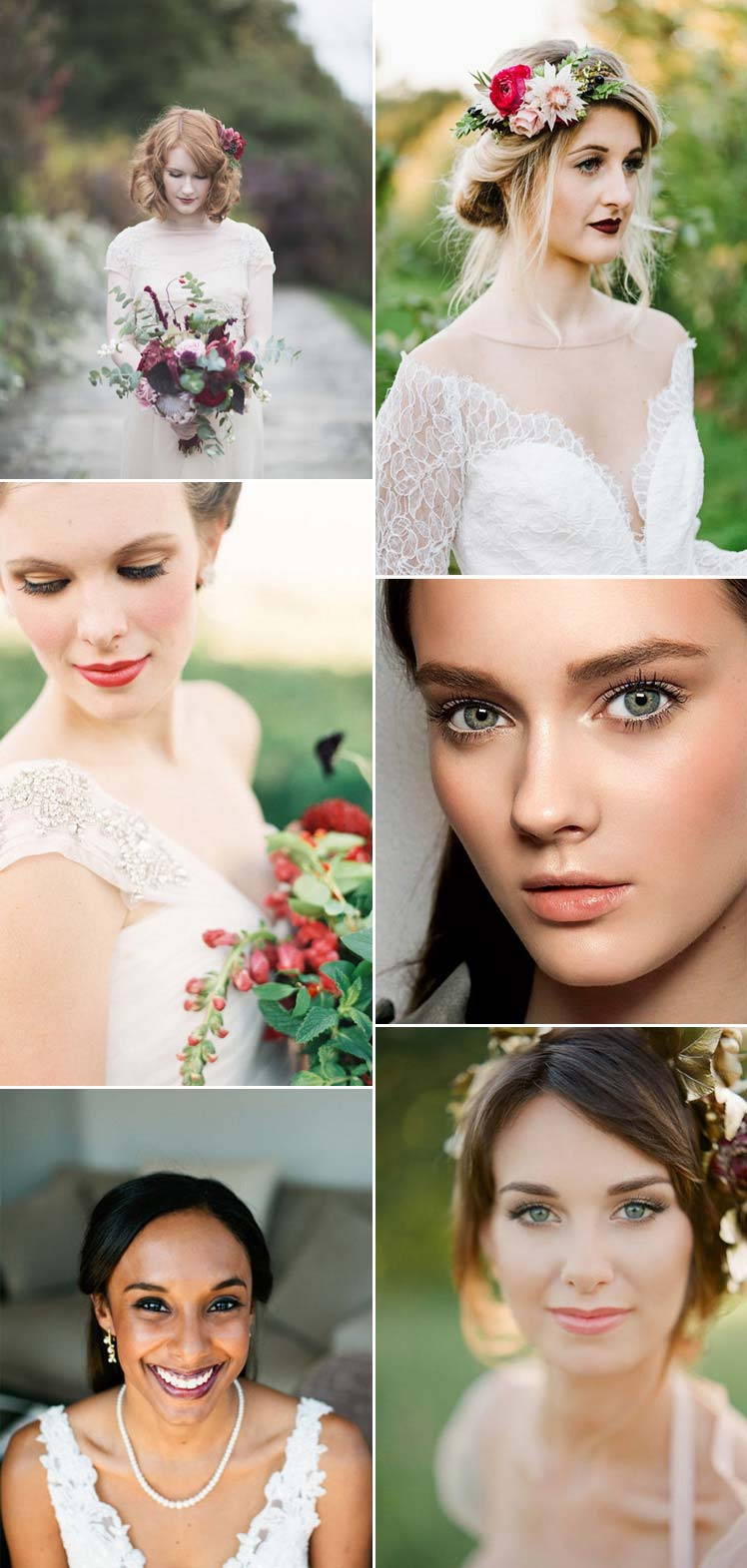beautiful Autumn bridal make up ideas