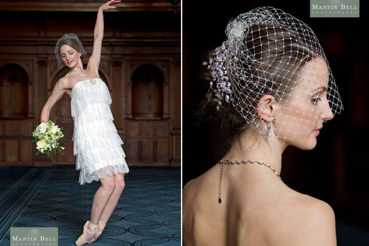Garland of Elegance Headpiece and Angel's Pearl Earrings