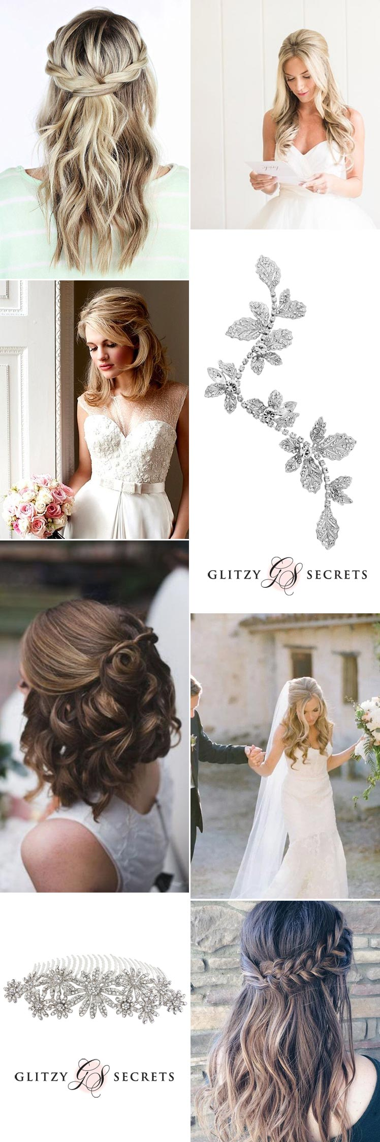 romantic half up dos the perfect bridal hairstyle