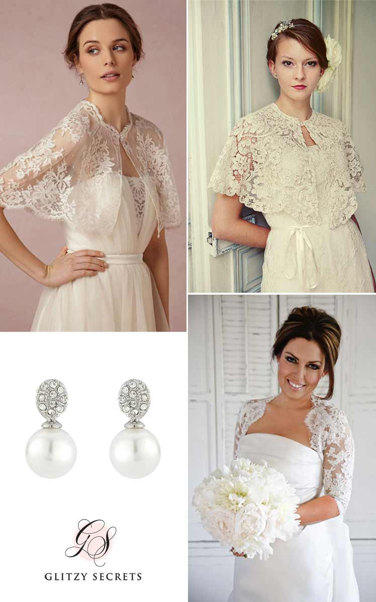 Classic lace bridal cover ups