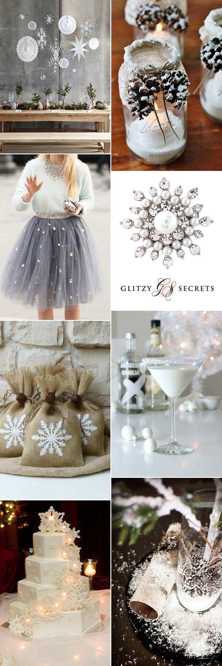 Beautiful snow flake wedding theme ideas
