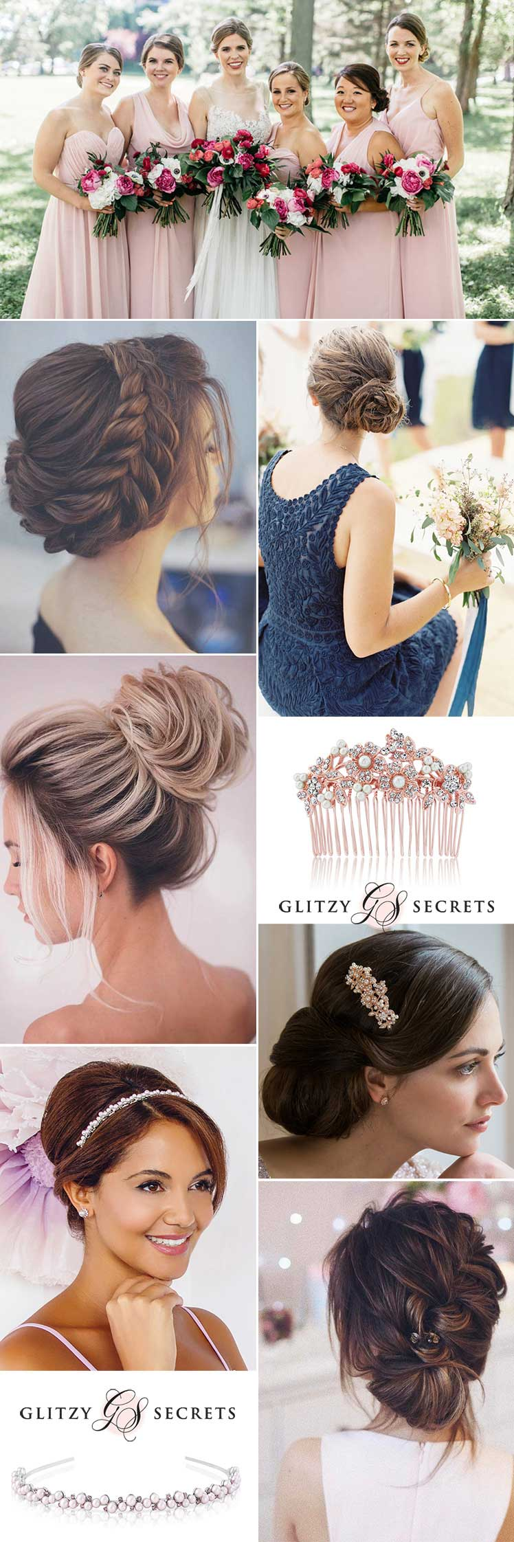 stylish updos for your bridesmaids