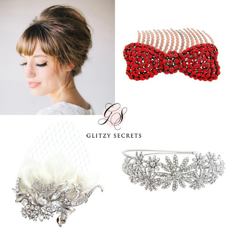 Accessories for a beehive updo