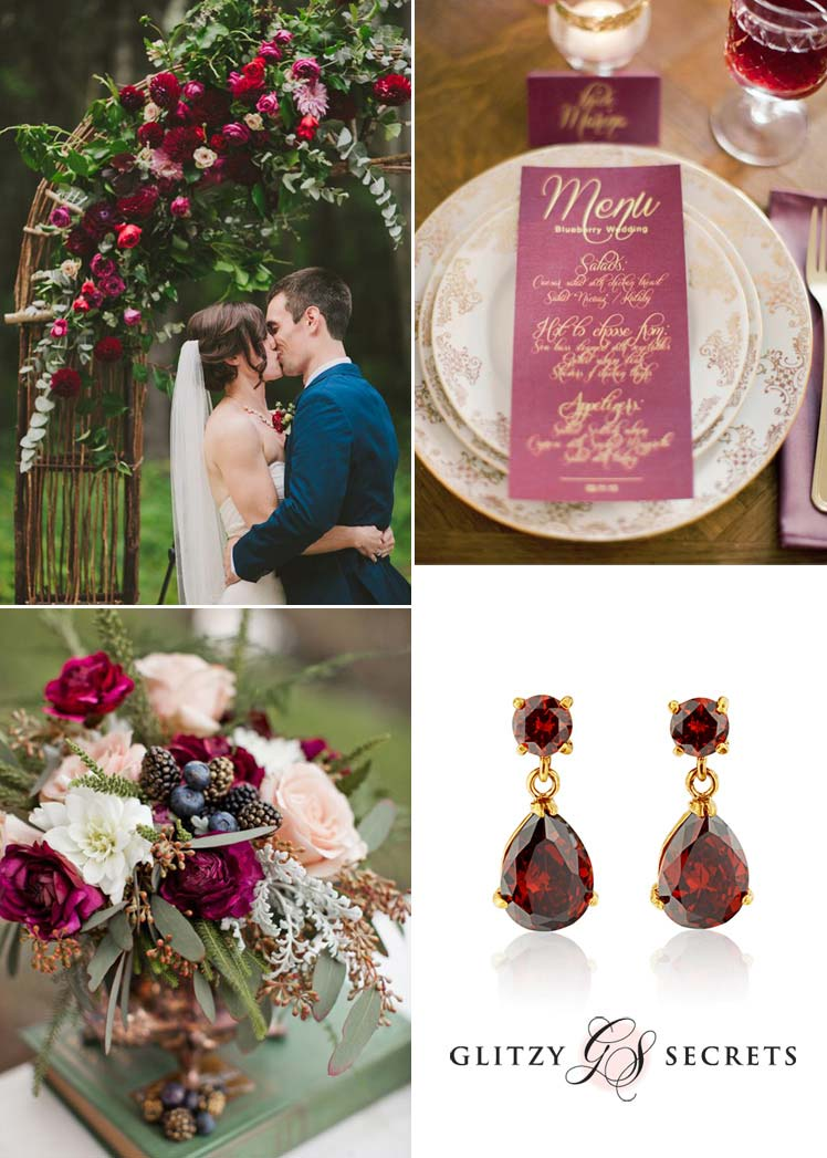 Beautiful berry red wedding ideas for Autumn