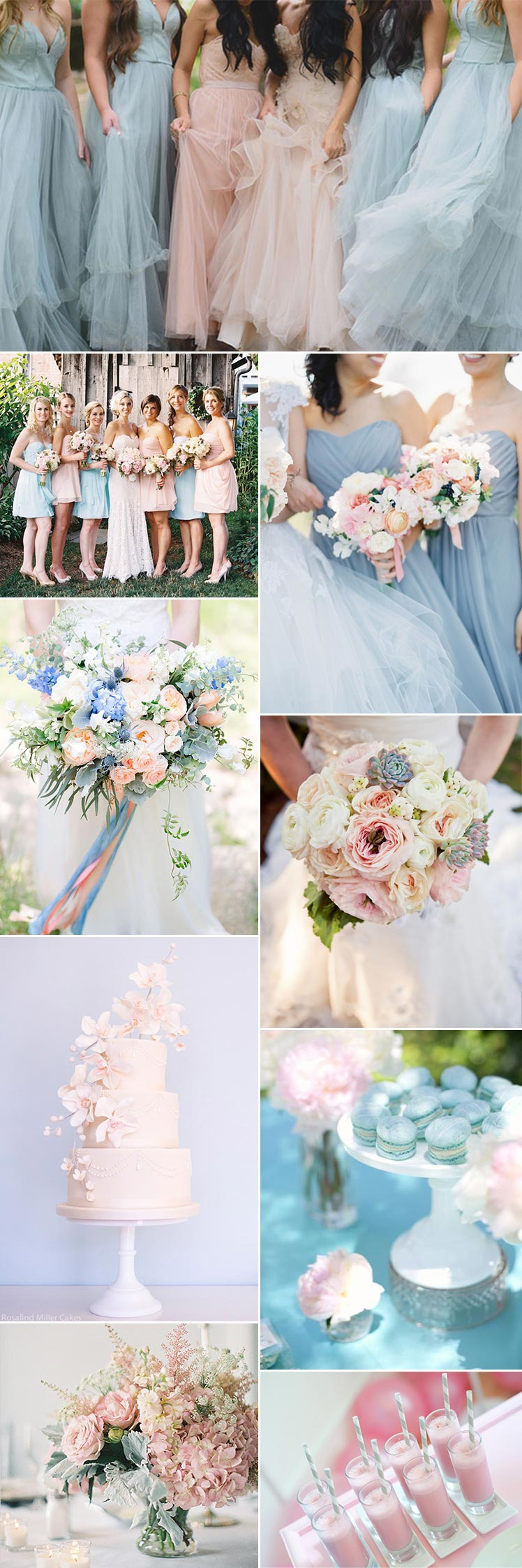 Pink and blue wedding colour scheme inspiration