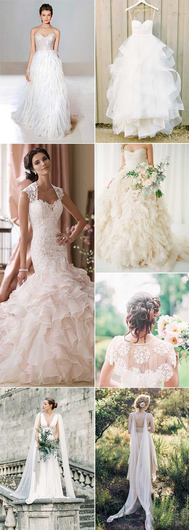 Bridal trends Ruffles and Capes