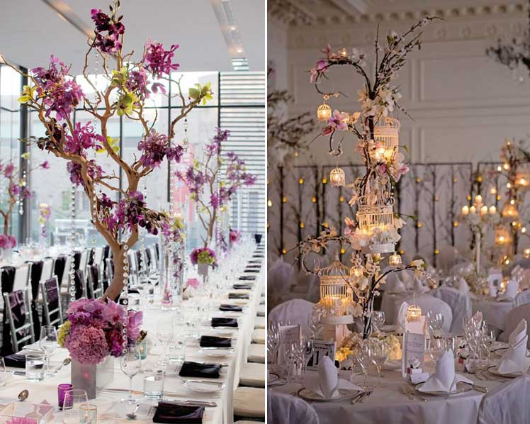 Incorporate nature into your wedding centrepieces